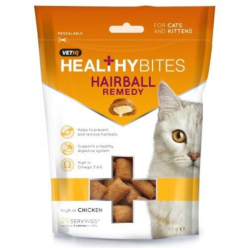Snacks para prevenir las bolas de pelo para gatos y gatitos sabor Pollo