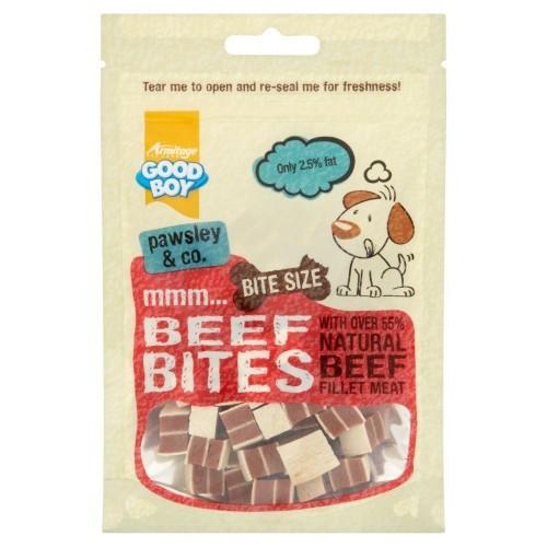 Snacks bocaditos de ternera para perros