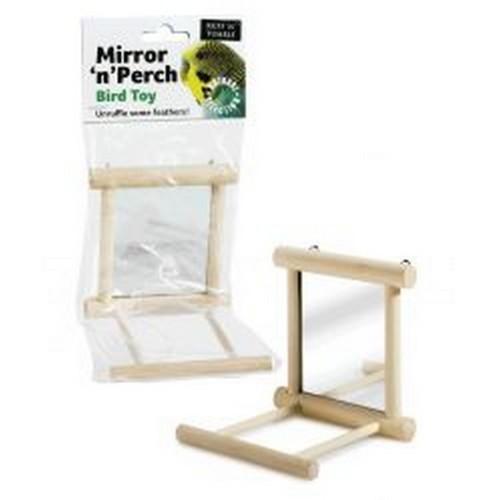 Percha con espejo Mirror N Perch para jaulas color Puede Variar