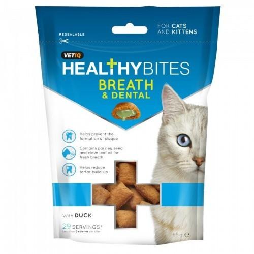 Snacks para el cuidado de los dientes y el aliento para gatos y gatitos sabor Pato