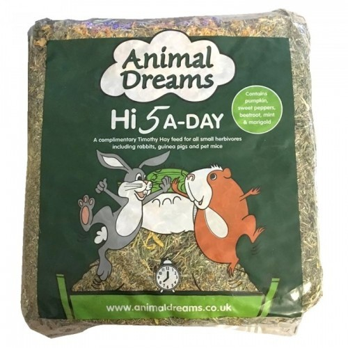 Heno Timothy Hi 5 A-Day para roedores