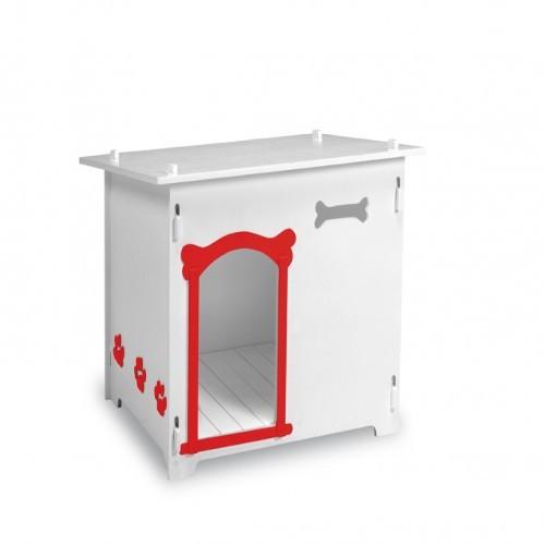 Caseta de HPL Gante para perros color Blanco