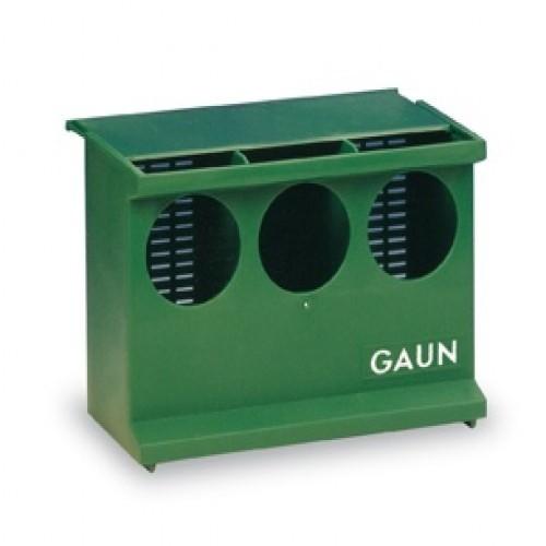 Comedero para palomas Gaun verde con 3 huecos