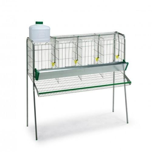 Batería de jaulas para gallinas Gaun con compartimentos