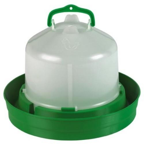 Bebedero premium con tapón tipo tolva color Verde