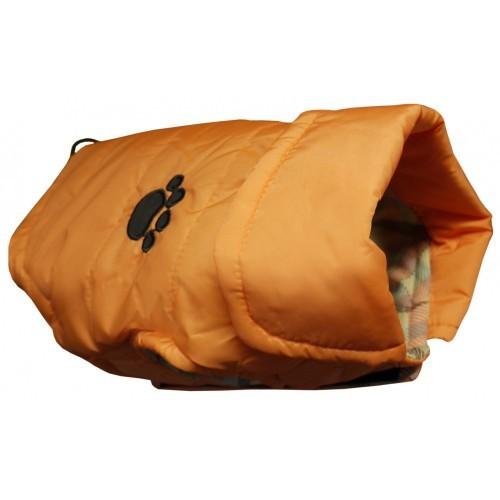 Abrigo impermeable modelo Gilet para perros color Naranja