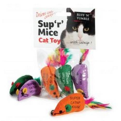 Pack de 3 ratones de hierba gatuna Sup ´R´ Mice