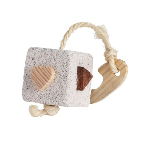 Cubo de juguete Cal C Cube de piedra Pómez para roedores