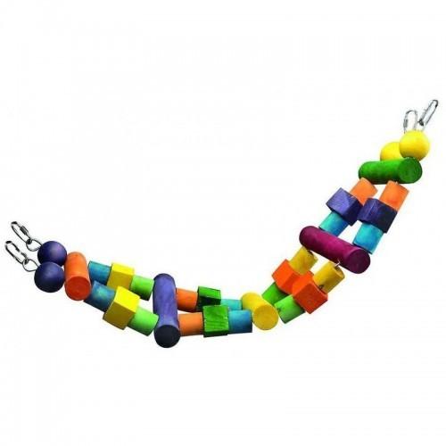 Juguete Puente Wood para loros color Variado