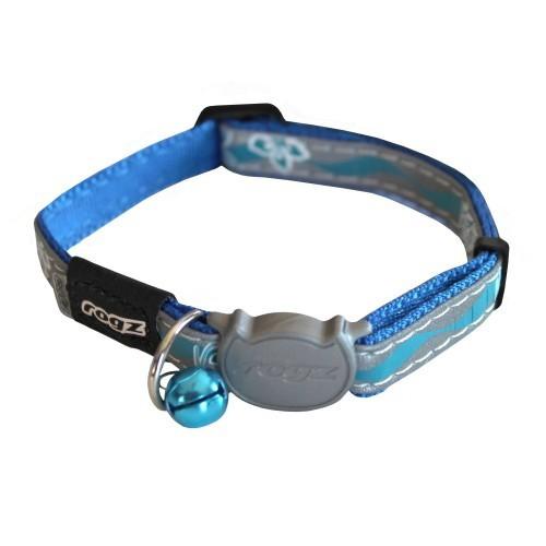 Collar para gatos modelo Nightcat color Azul floral