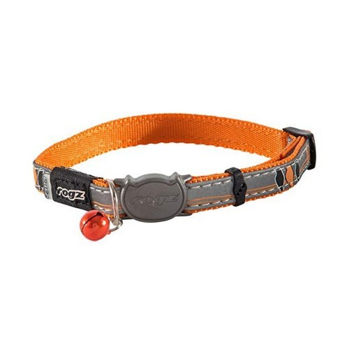 Collar para gatos modelo Nightcat color Naranja