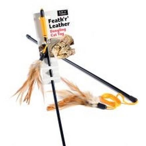 Juguete con pluma Feath ´R´ Leather para gatos color Varios