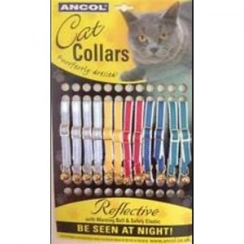 Pack de 12 de collares reflectantes para gato color Varios