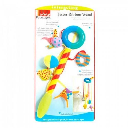 Varita de juguete con cuerda modelo Jester para gatos Multicolor