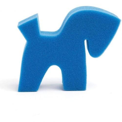 Esponja con forma de pony para caballos color Azul