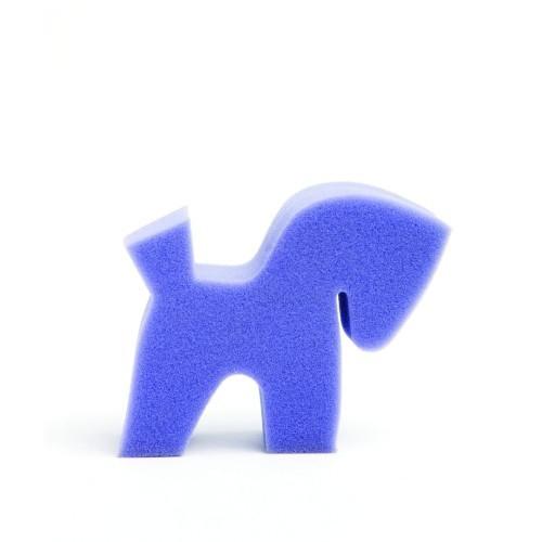 Esponja con forma de pony para caballos color Rosa
