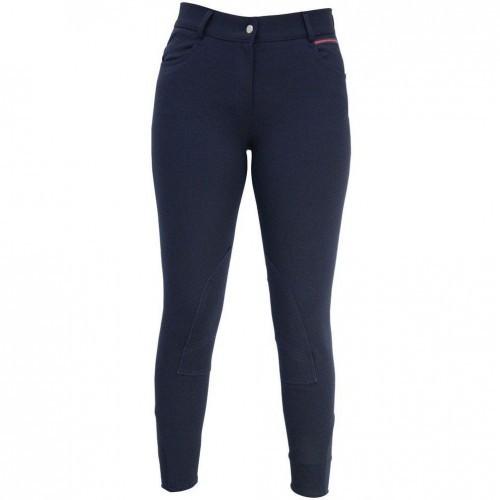Pantalón Breeches de equitación Signature de montar para mujer color Azul Marino/Rojo