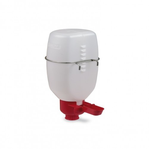 Bebedero para pájaros mini con botella color Rojo