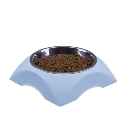 Comedero bebedero bowl mixto para mascotas color Azul