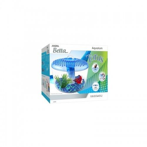 Pecera Marina Betta Torus 3 color Transparente