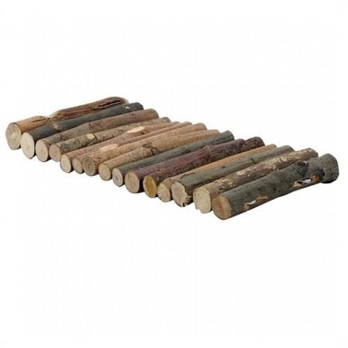Tronquitos de madera flexible para roedores color Marrón