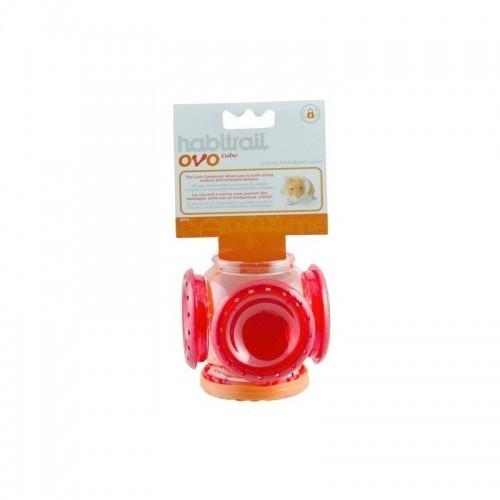 Ovo Cubo Habitrail para hámsters color Rojo
