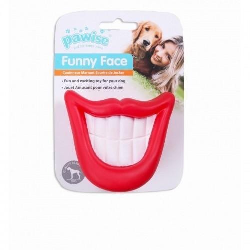 Sonrisa Pawise Funny Face para perros color Rojo
