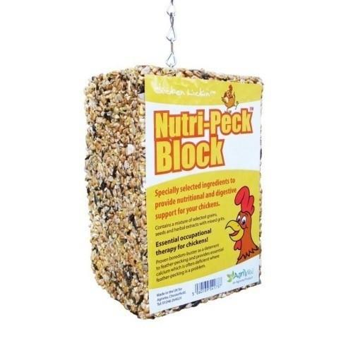 Bloque nutritivo de picoteo Tusk para gallinas