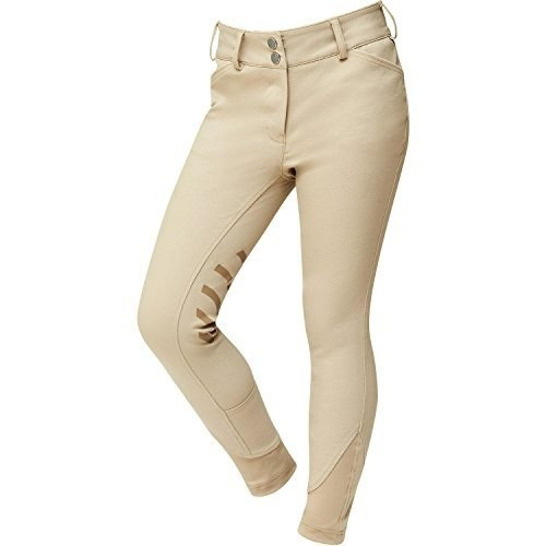 Pantalones infantiles de equitación con parches color Beige