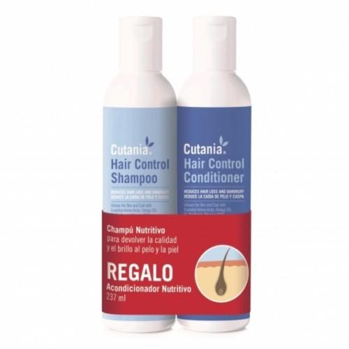 Pack champú + acondicionador Cutania Hair Control olor Neutro