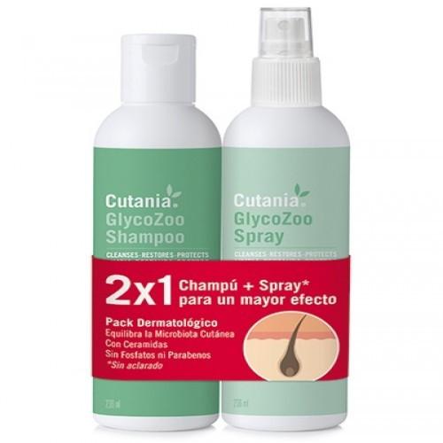 Champú + Spray Cutania GlycoZoo para perros olor Neutro