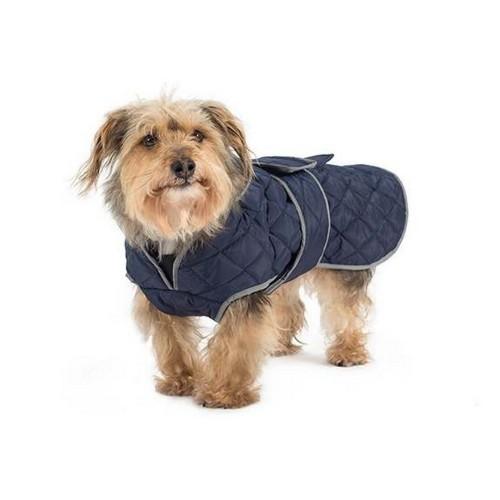 Abrigo acolchado Ancol para perros color Azul marino