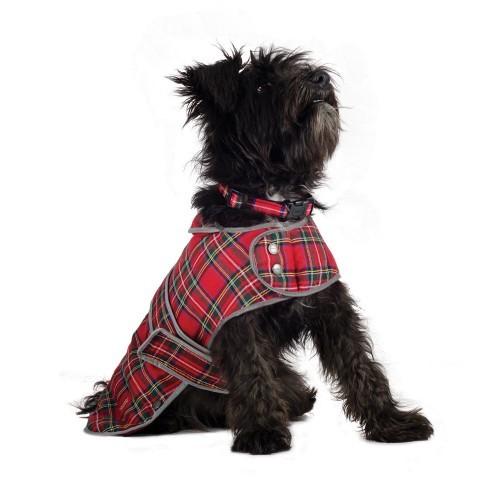 Abrigo Ancol de diseño tartán para perros color Rojo
