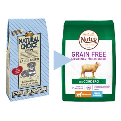 Nutro Grain Free cordero para cachorros grandes