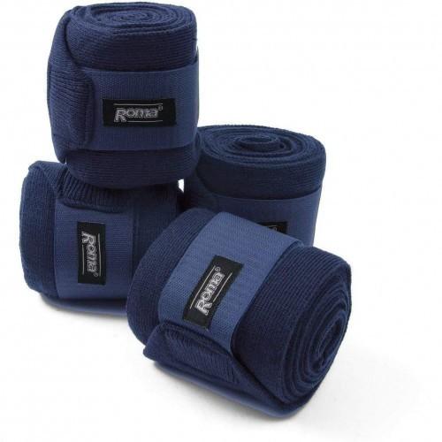 Pack de 4 vendajes acrílicos para caballos color Azul Marino