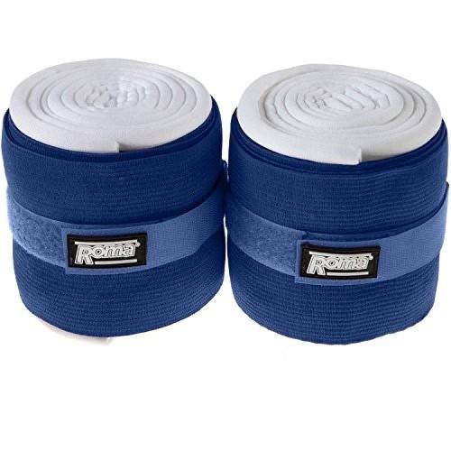 Pack de dos vendajes Roma para caballos color Azul Marino