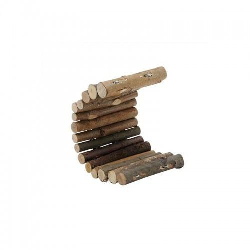 Tronquitos flexibles de madera para roedores color Madera