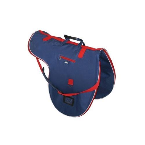 Bolsa de montura modelo cruise color Azul Marino/Rojo/Blanco