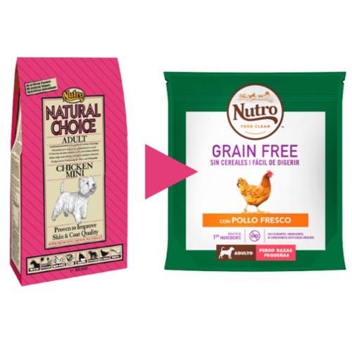 Nutro Grain Free con pollo para perros pequeños