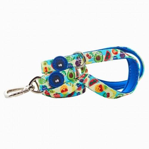 Correa Frutas para perros color Azul