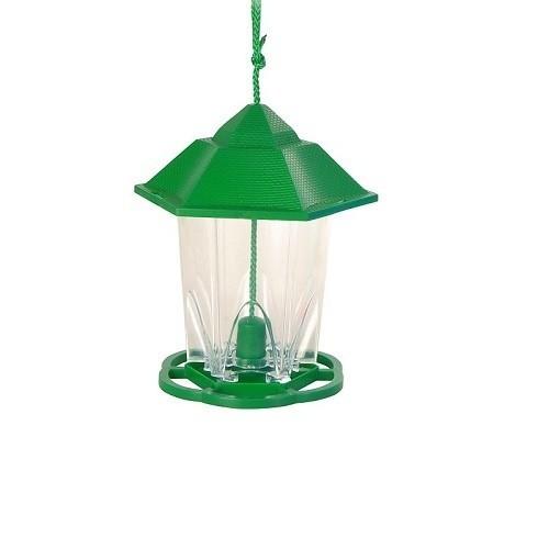 Comedero parajarera exterior para pájaros color Verdes