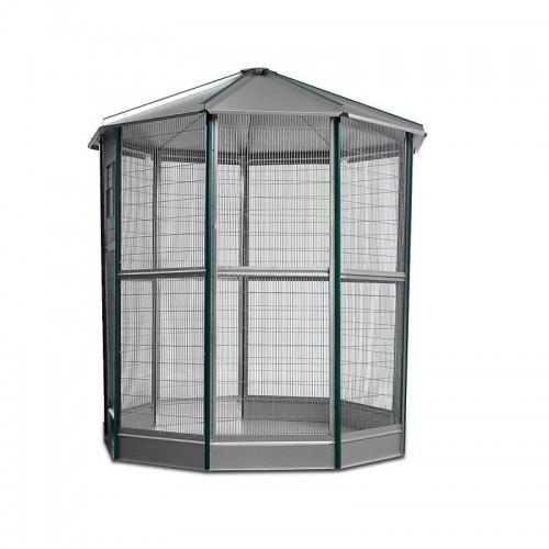 Voladero galvanizado 9 lados con accesorios Color Verde/metal