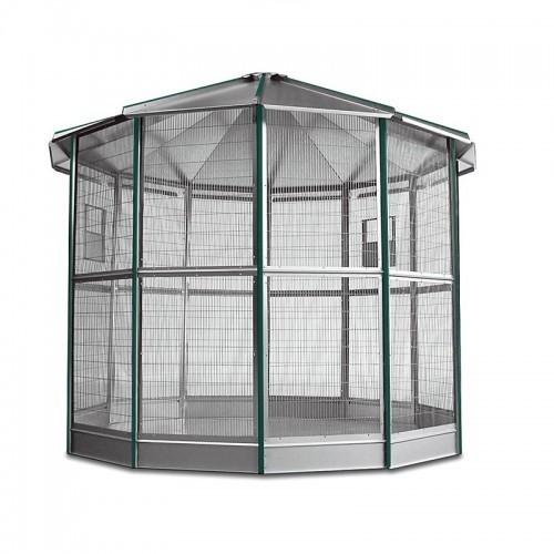 Voladero galvanizado 12 lados con accesorios color Verde/Metal