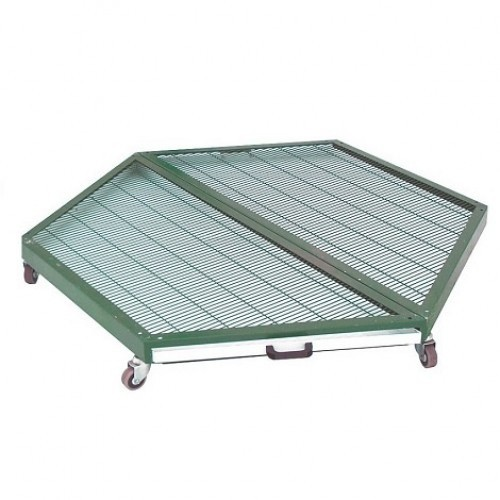 Base para voladero con 6 lados lacado color Verde