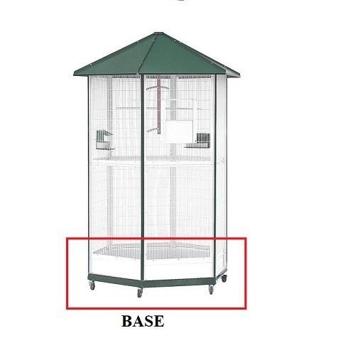 Base voladero de 6 lados galvanizada para pájaros