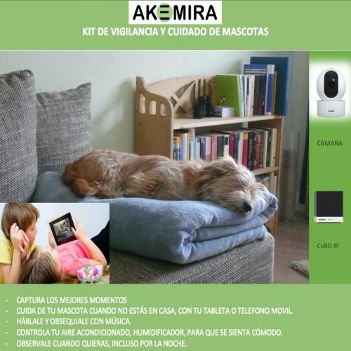 Kit de vigilancia y cuidado para mascotas color Blanco