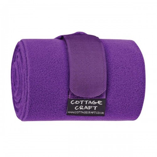 Pack 4 vendas con vellón Cottage Craft color Púrpura