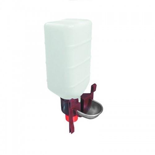 Bebedero universal Gyc con botella 2 Litros color Blanco/Gris/Rojos