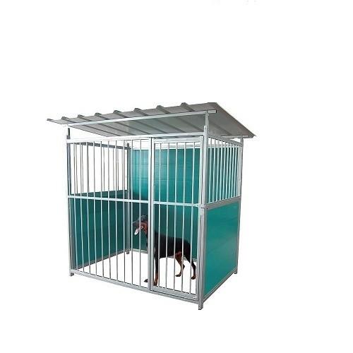Perrera Galvanizada para perros color Metal