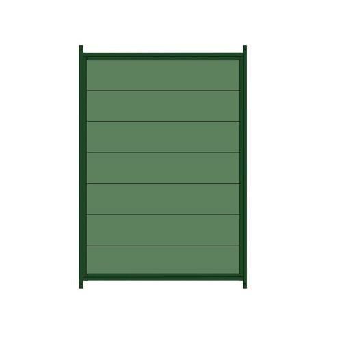 Panel lacado de plástico para perrera color Verde